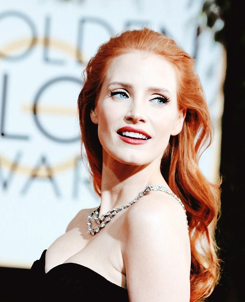 jessica chastain hair and makeup