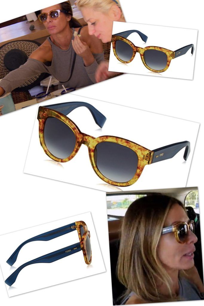 Carole Radzwill's Fendi Two Tone Sunglasses in Punta Mita Mexico http://www.bigblondehair.com/real-housewives/carole-radziwills-sunglasses-mexico/ Season 9 Episode 15 Real Housewives of New York Fashion