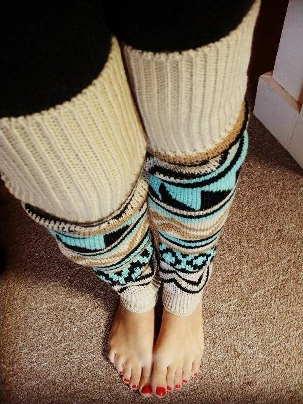 Grace and Lace Aztec leg warmers. Love!!