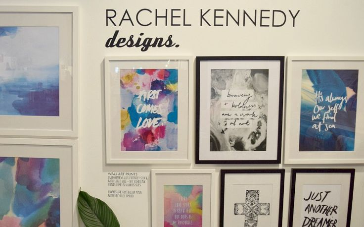 Latest Rachel Kennedy designs on display at Life Instyle l Water colour wall art