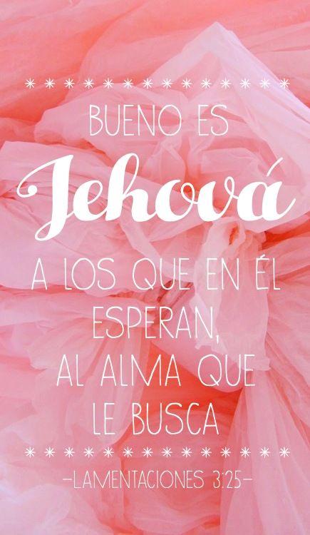 Lamentaciones 3:25 Bueno es Jehova #Jehova #Jesus #Biblia