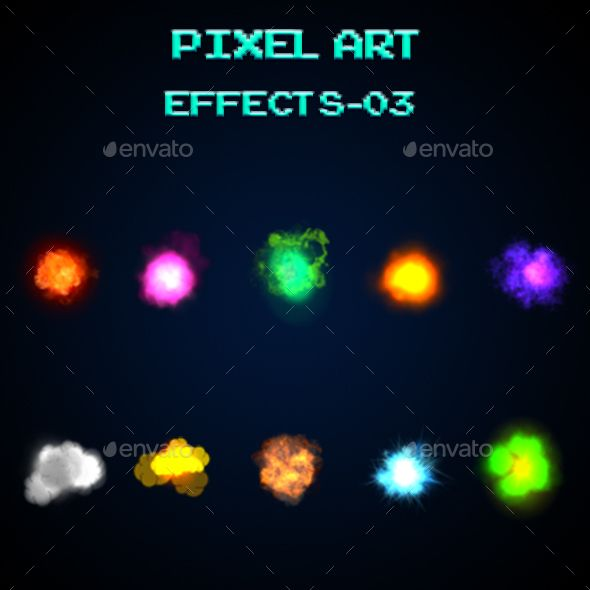 Pixel Art_ Effects-03 Contain 10 Special Effects With