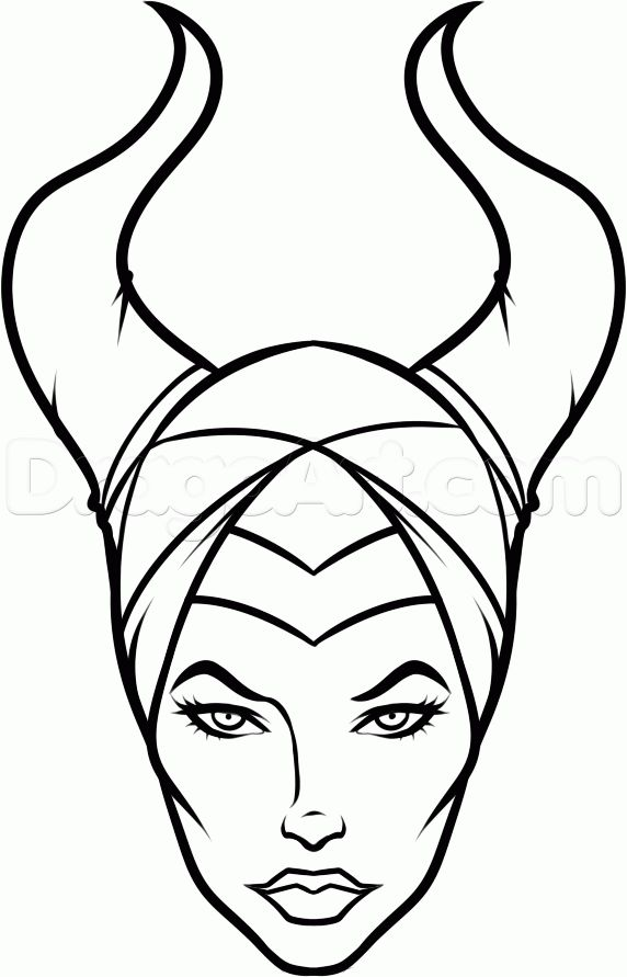 Simple Scribble Drawing : How to draw maleficent easy step birthdays pinterest