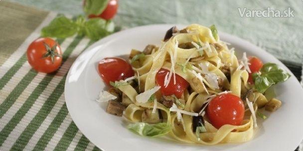 Cestoviny s paradajkami a baklažánmi - Recept
