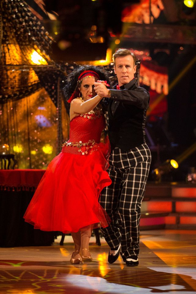 SCD week 5, 2016.Lesley Joseph & Anton du Beke. Tango.  Voted off. Credit: BBC / Guy Levy