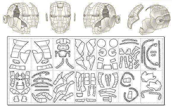 Mascara de iron man para armar - Imagui