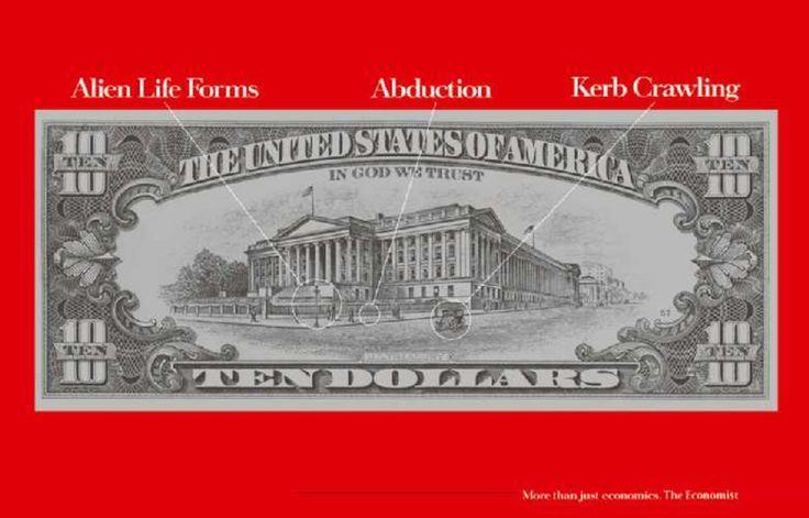 Read more: https://www.luerzersarchive.com/en/magazine/print-detail/the-economist-15236.html The Economist Alien Life Forms. Abduction. Kerb Crawling. Claim: More than just economics. The Economist. Tags: Abbott Mead Vickers (AMV) BBDO, London,Sean Doyle,Dave Dye,The Economist