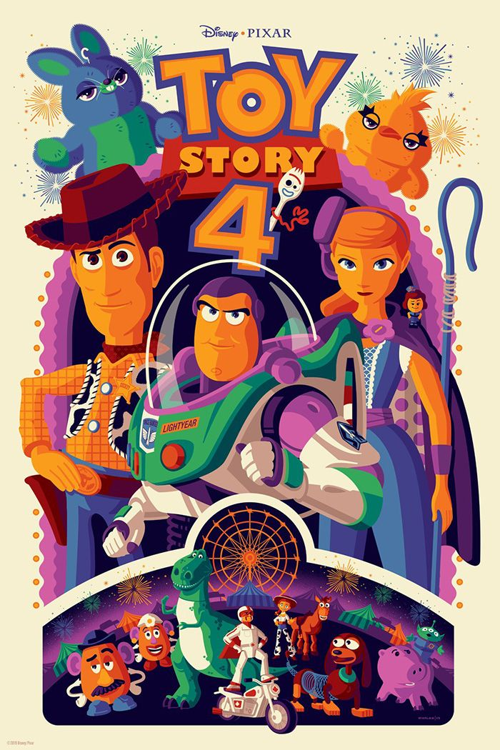 Toy Story Woody Buzz Characters Classic Movie Large Poster Art Print