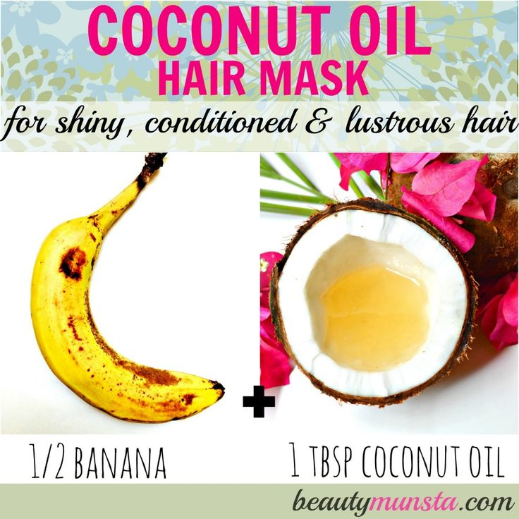 This coconut oil Hair mask with banana leaves your hair conditioned, shiny and oh-so-soft!