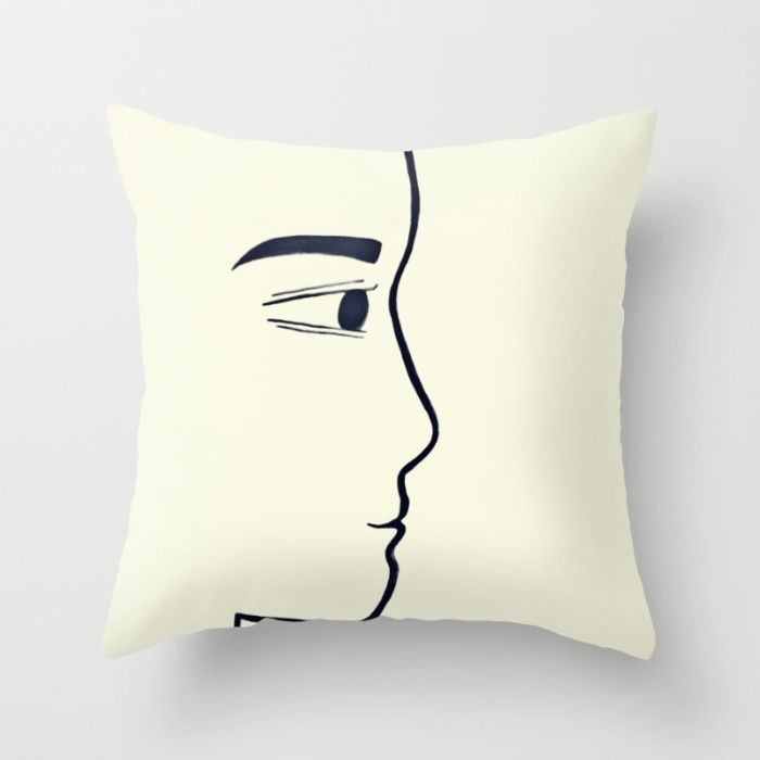 Him Throw Pillow by Ioana-Ruxandra | Society6