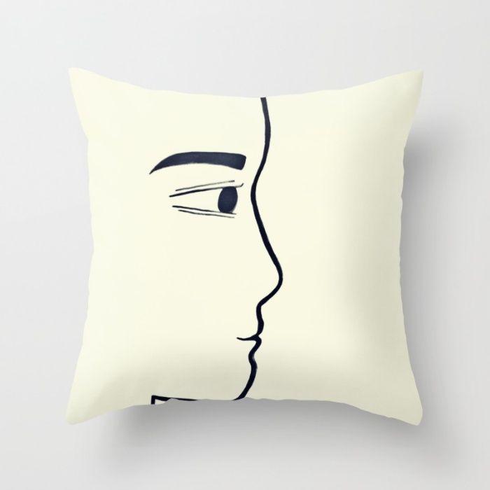 Him Throw Pillow by Ioana-Ruxandra | Society6