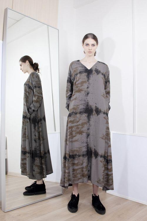 Lesel - Платье клеш с рисунком Дым