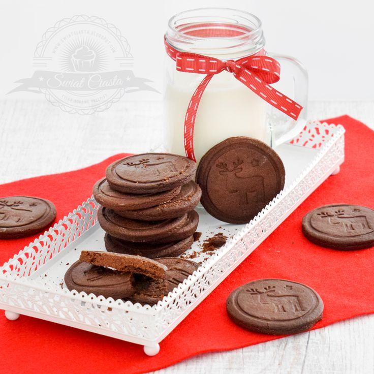 Kakaowe ciasteczka maślane   Świat Ciasta