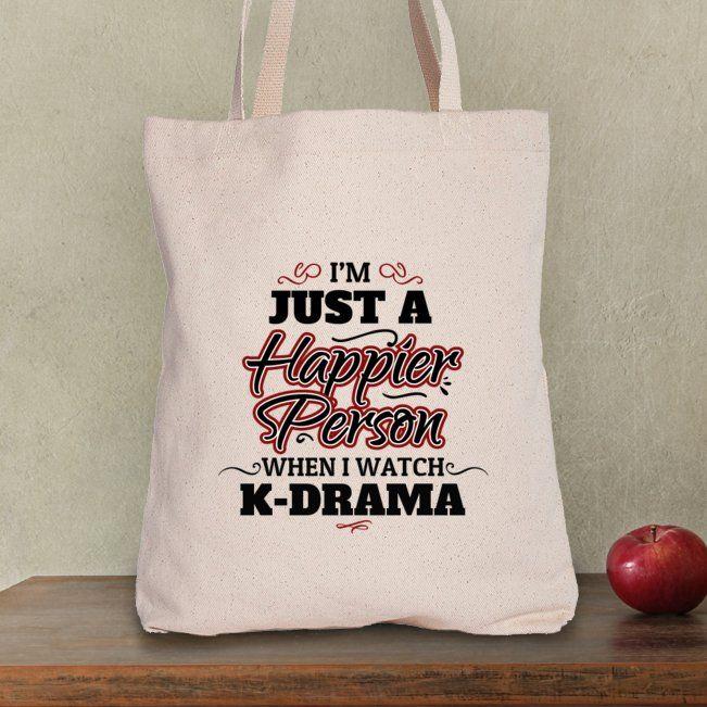 Ich bin gerade eine glücklichere Person, wenn ich K-Drama – Taschen-Tasche aufpasse