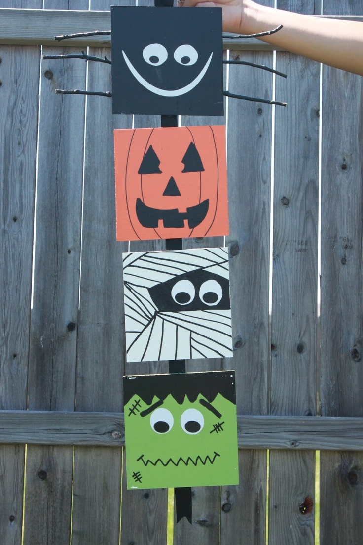 112 best Halloween Decor images on Pinterest Handmade halloween - Halloween Door Decoration Ideas
