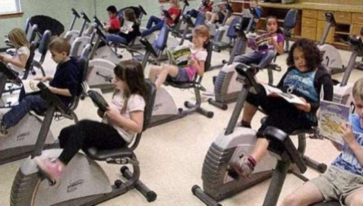 Σχολείο στην Αυστρία τοποθετεί ποδήλατα γυμναστικής αντί για θρανία