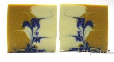 El arte del jabón: Tutorial remolinos ocultos. Secret swirl tutorial