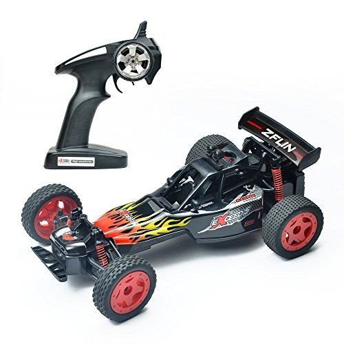 RC Car ZFLIN Remote Control Car Toys 1:16 Monster Truck RC Buggy Desert Buggy 2.4Ghz 2WD 50M Distance Desert Race Crawler Off Road Electric Vehicle Radio Controlled Car High Speed Hobby Gift