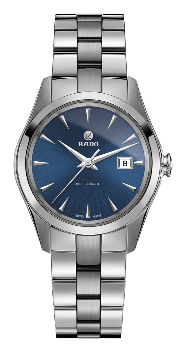 RADO Hyperchrome Automatic, blue dial st.steel watch. Made in Switzerland. R32091213. Authorized Rado Dealer. Free CDN shipping