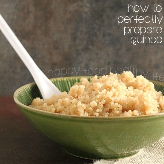 How to Perfectly Prepare Quinoa. Such a versatile superfood - start with the basics and then go crazy! www.happyfoodhealthylife.com