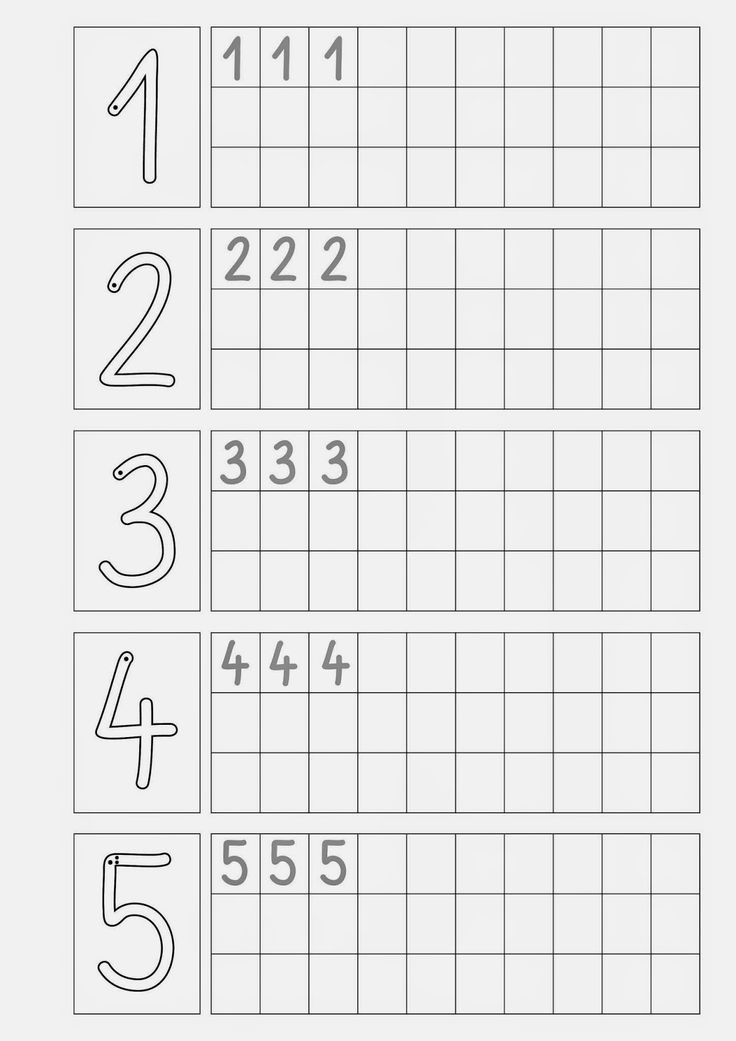 Ziffern schreiben .... | escritura | Pinterest | Math, Worksheets ...