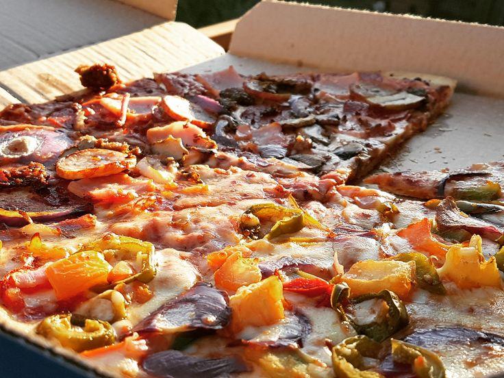 Sun-kissed Domino's Pizza. [OC] [4032x3024]