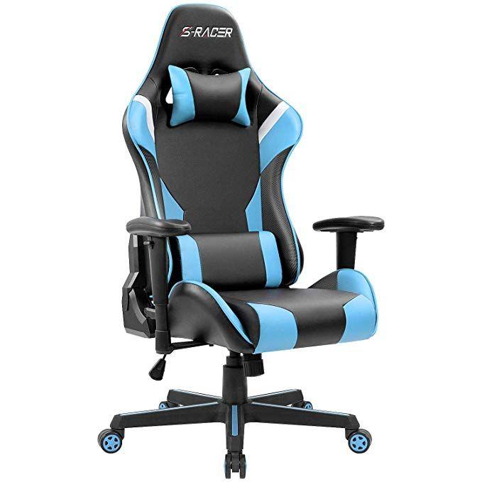 Jummico Gaming Chair Ergonomic Desk Chair Leather Racing Computer Chair High Back Swivel Executive Chair Adjustable Adjustable Office Chair Gaming Chair Chair