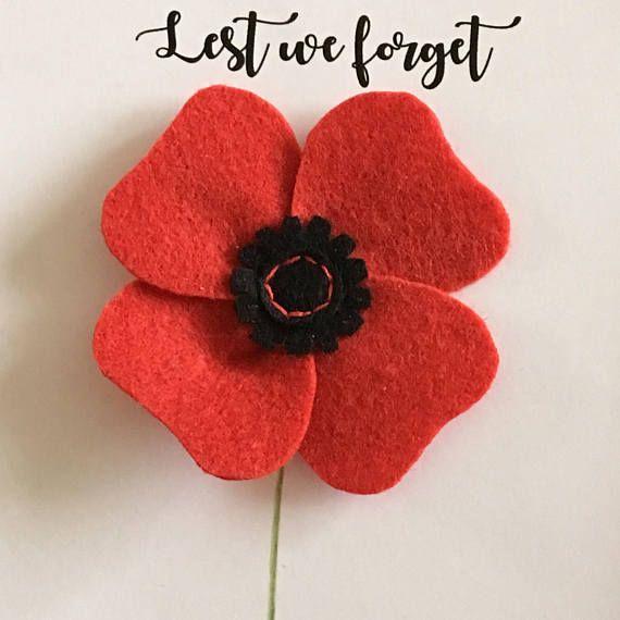 Remembrance Poppy Pin broche