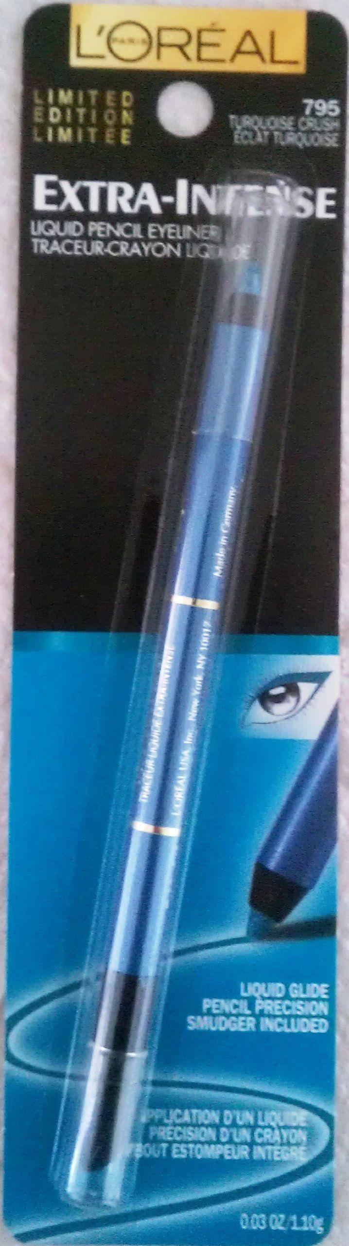 L'oreal Voluminous Extra Intense Liquid Pencil Eyeliner #795 Turquoise Crush, Retractable. EYELINER.