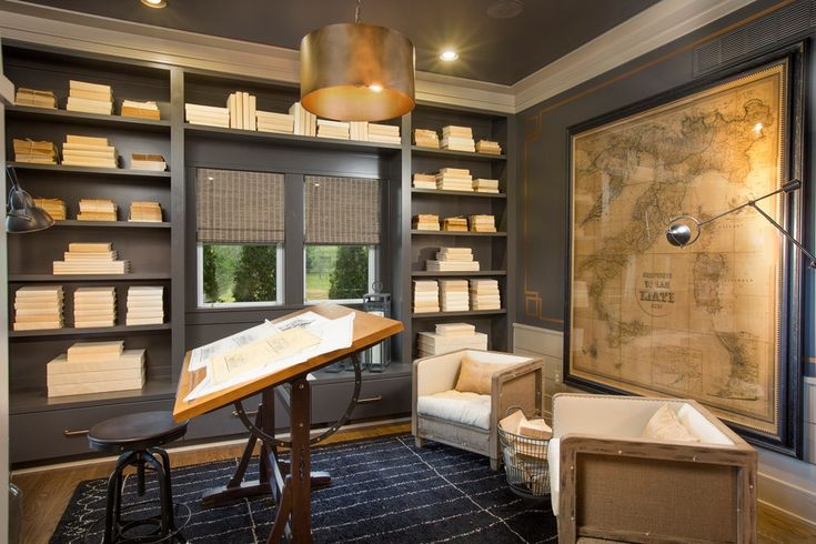 25 best ideas about restoration hardware office on for Craftsman style office