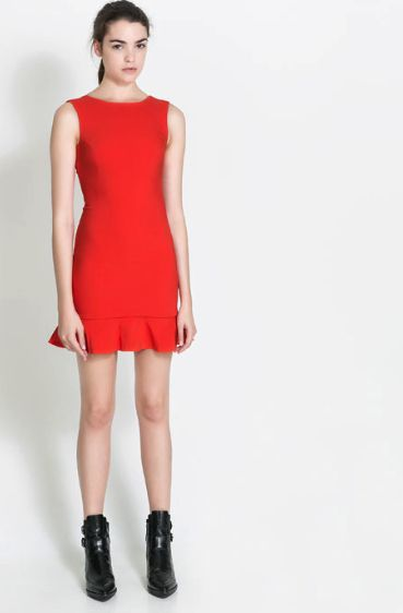 zara little bright dress at #redsoledmomma.com