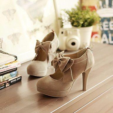 Tan Bow Heels