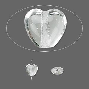 Бусина, чешское прессованное стекло, ясная, 6.5x6mm сердце. Продается на 16-дюймовый прядь, примерно 65 бусин.