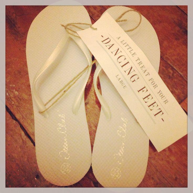 Amazing Wedding Party Flip Flops
