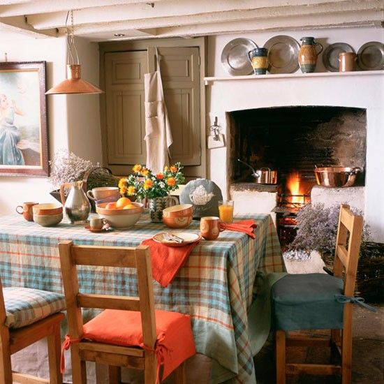 Country Dining Room With Wooden Chairs