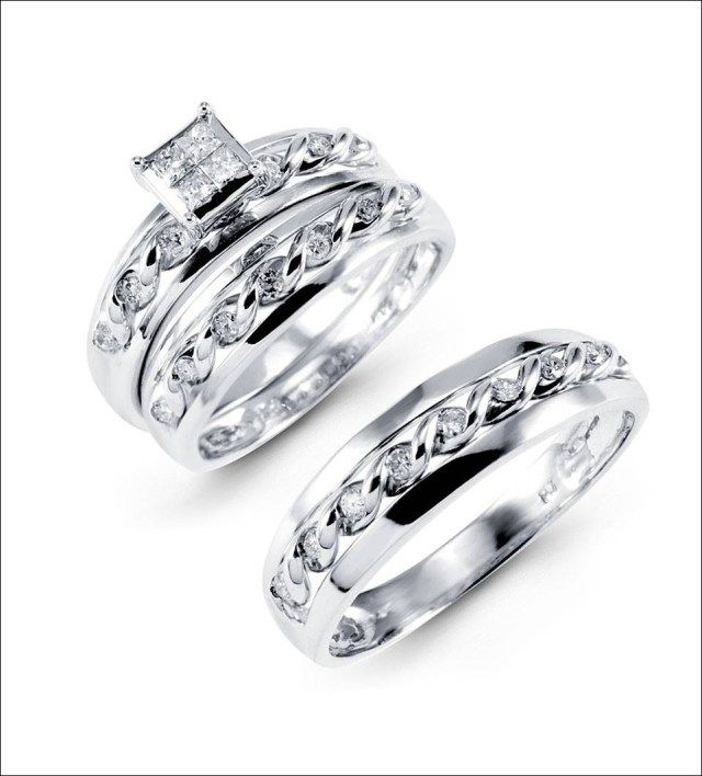 Bride And Groom Wedding Ring Sets 15