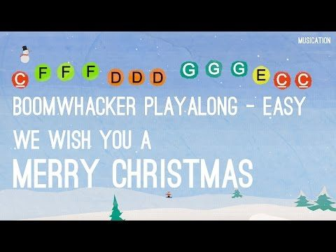 We Wish You a Merry Christmas - Boomwhackers Easy - (chords vs. melody)