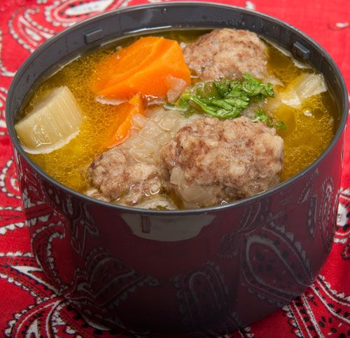 Meatball soup, good winter lunch.