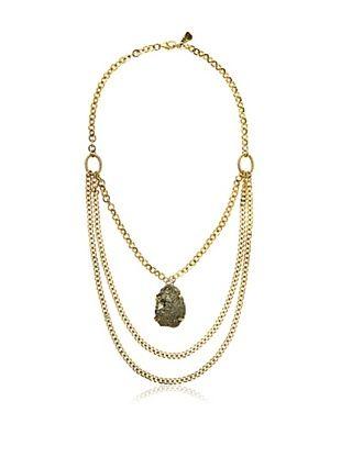 65% OFF Yochi Pyrite Statement Necklace