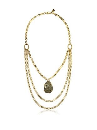 65% OFF Yochi Pyrite Statement Necklace