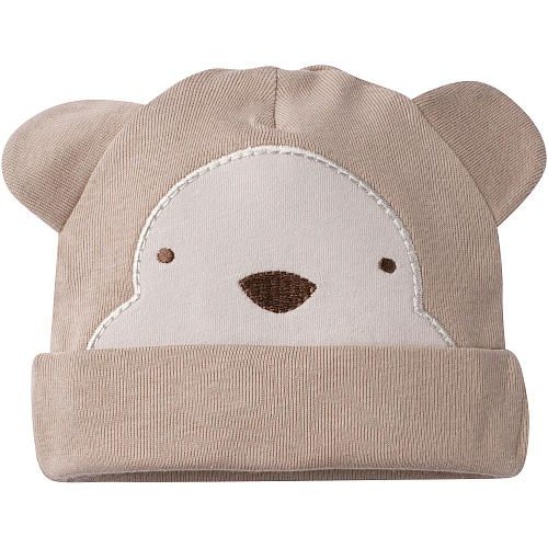 Gerber newborn boy novelty monkey cap is an adorable addition to any outfit. Essential for keeping his tiny head covered and cozy warm. 100% cozy cotton for comfort and an adjustable cuff for a perfect fit. A 'must have' newborn baby accessory.
