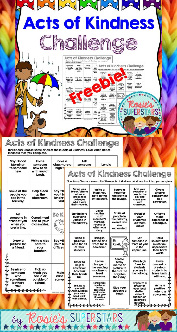 3 acts of kindness essay