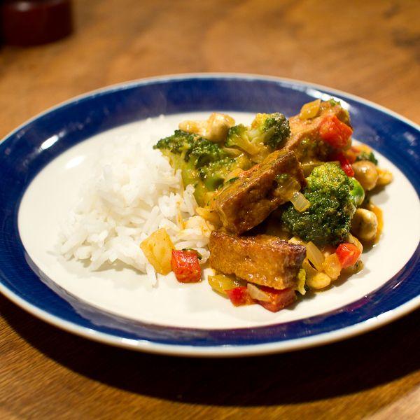 Ook geschikt voor 1 jarigen - Thaise gele curry met kokosmelk
