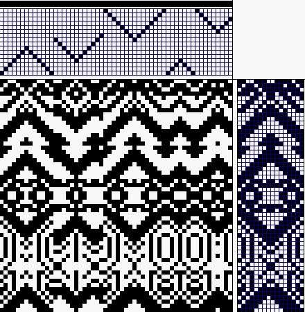 Dobby design with 20 threads