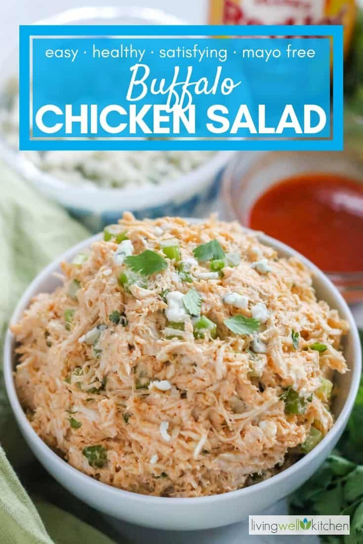 Apr 1, 2020 – Easy Buffalo Chicken Salad Recipe without Mayo or Dressing, #Buffalo #Chicken #chickensaladrecipe #Dressin…
