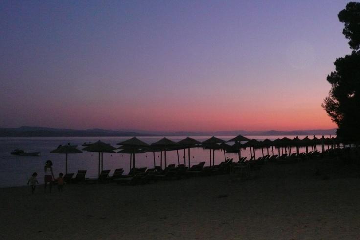 Evening at Troulos beach, Skiathos.