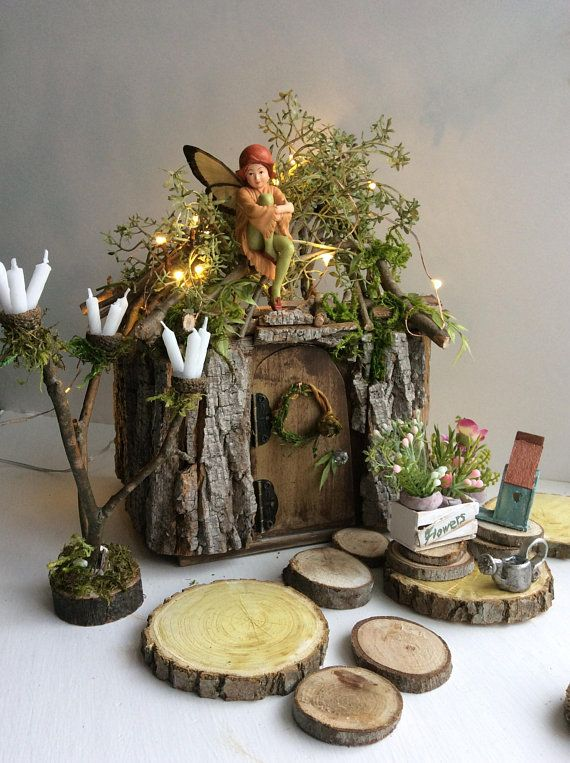 Fairy Cottage by Olive, Fairy House, Miniature Cottage ~ Includes All Fairy Accessories Shown Faerie, Fae House – fairy gardens