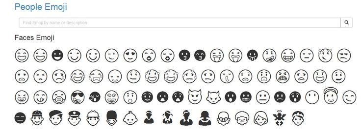 Copy and Paste Emoji    The full Emoji list is shown below, just ✂ Copy and  Paste.