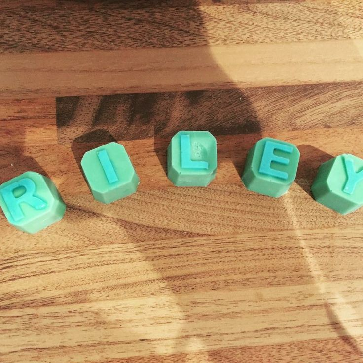 Letter blocks made from chocolate, check out Ashleigh's chocolate delights on Facebook x #name #letterblocks #chocolate #cakedecoration