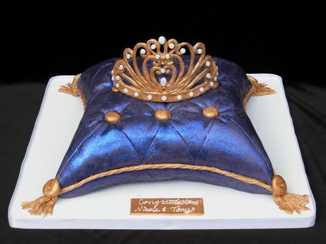 purple pillow cake -  for Gillian
